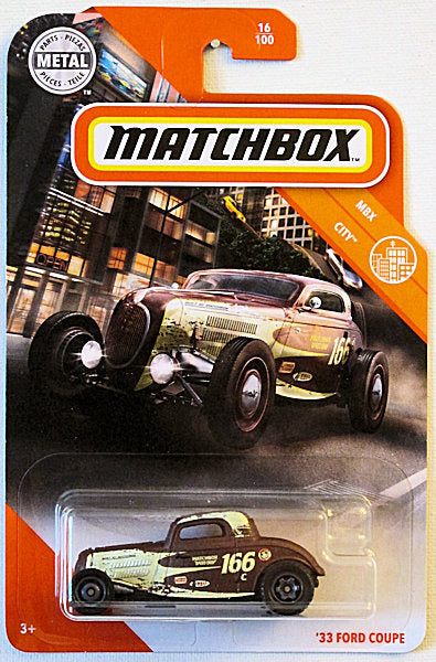 '33 Ford Coupe (2020 Matchbox Mainline #16/100 - MBX City)