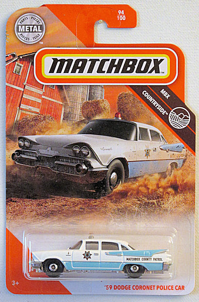 '59 Dodge Coronet Police Car (2020 Matchbox Mainline #94/100 - MBX Countryside)