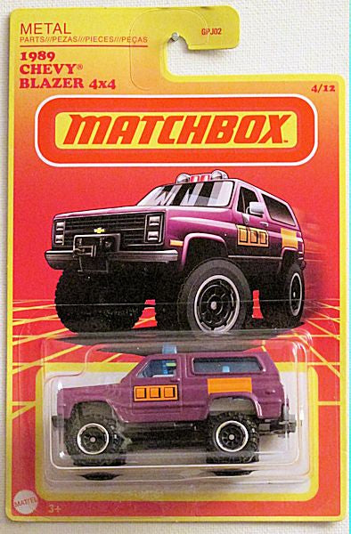 1989 Chevy Blazer 4x4 (2020 Matchbox Retro Series - Target Exclusive #4/12)