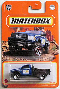 2016 Ram Flatbed (2021 Matchbox Mainline #100/100)