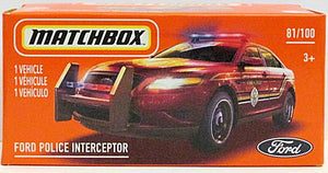 Ford Police Interceptor (2021 Matchbox Power Grabs #81/100)