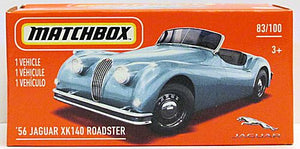 '56 Jaguar XK140 Roadster (2021 Matchbox Power Grabs #83/100)