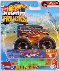 Hot Wheels Delivery (2021 Hot Wheels Monster Trucks #9/75) HW Flames