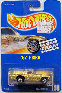 '57 T-Bird (Hot Wheels Collector Number Card #190) Gleam Team Edition