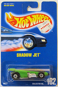 Shadow Jet (Hot Wheels Collector Number Card #182)
