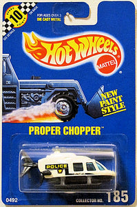 Proper Chopper (Hot Wheels Collector Number Card #185)