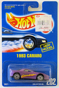 1993 Camaro (Hot Wheels Collector Number Card #202)