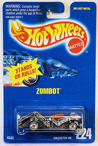 Zombot (Hot Wheels Collector Number Card #224)