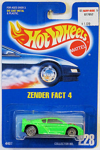 Zender Fact 4 (Hot Wheels Collector Number Card #228)