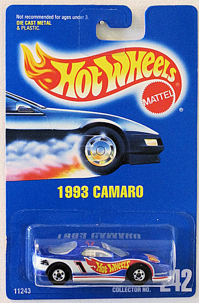 1993 Camaro (Hot Wheels Collector Number Card #242)