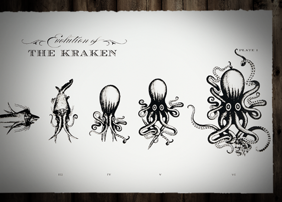 The Evolution of The Kraken Print