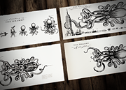 The Kraken Prints: Black Ink Collection
