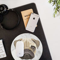 Polygonal Art Pug Painting Mouse Pad Mouse Mat