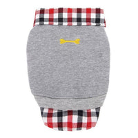 1PC Dog Cat Grid Puppy Warm T-Shirt Pet Clothes