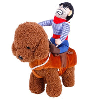 Lovely Riding Horse Dog Costume With Cowboy Hat