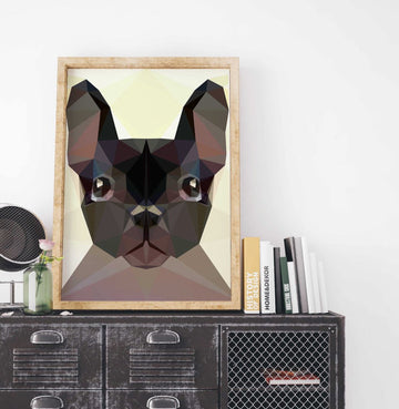 French Bulldog Painting Poster Art Print Canvas