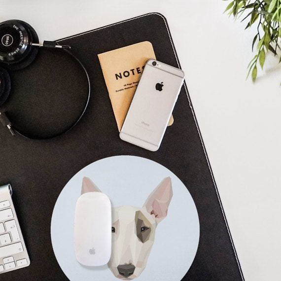 Geometric Dog Bull Terrier Mouse Pad Mouse Mat