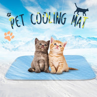 Pet Cooling Mat Dogs Cats Chill Bed Indoor Summer Heat Relief Indoor Cool Cushion Gel Sleeping Pad Seat (S/M/L)