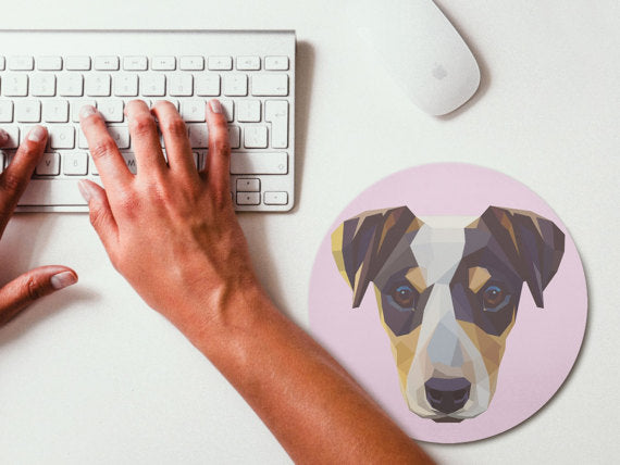 Geometric Art Jack Russell Terrier Mouse Pad Mouse