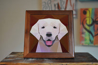Labrador Ceramic Tile Coaster Set Artwork Trivet