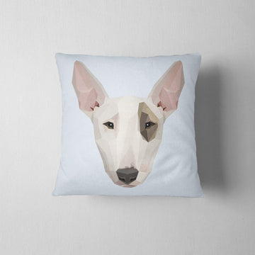 Geometric Bull Terrier Decorative Throw Pillow