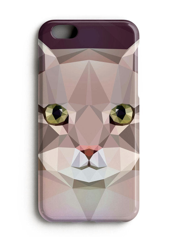 Geometric Cat iPhone X Case Samsung Galaxy Note 8