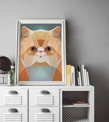 Persian Cat Painting Poster Art Print Canvas Print