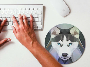 Mouse Pad Geometric Husky Mousepad Art Mouse Mat