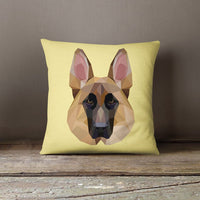 Geometric German Shepherd Decorative Throw Pillow