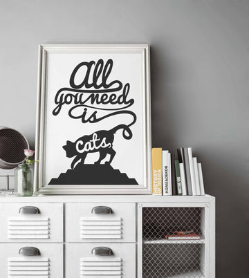 Cats Lover Pet Poster Art Print Canvas Print Wall