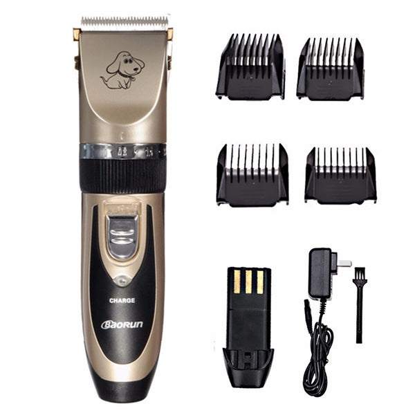 Professional Pet Cat Dog Hair Grooming Trimmer Clipper Animal Hair Remover Cutter Comb Kit