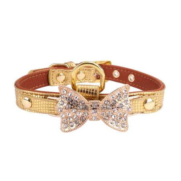 Accessori Cani Animali Pearl Diamante Bow Pet