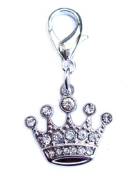 Crystal Crown Pet Dog Cat Collar Charm