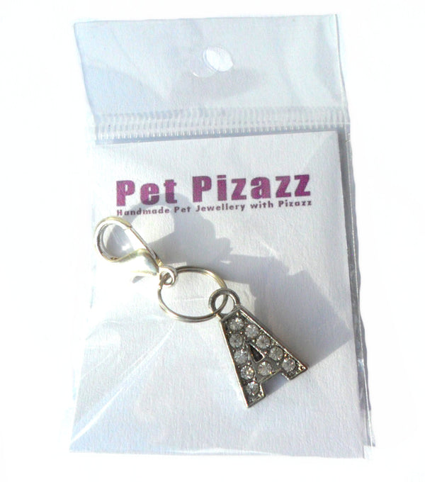 A-Z Crystal Dog Cat Pet Collar Letter Charms
