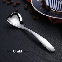 Heart-Shaped Cafe Spoons