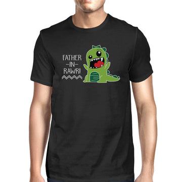 Father-In-Rawr Men's Black T-Shirt Funny Gifts For