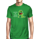 Father-In-Rawr Men's Green Short Sleeve Graphic
