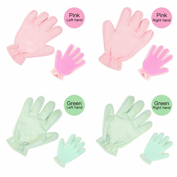 Pet Grooming Gloves Silicone Cat Massage Glove Brush
