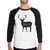 Buck Doe And Fawn Mens Black And White Baseball
