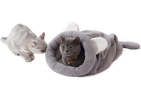 Cat Bed Soft Warm Cat House Pet Mats Puppy Cushion Rabbit Bed Funny Pet Products 4 Color - Bedding - Molly Brands - Molly Brands