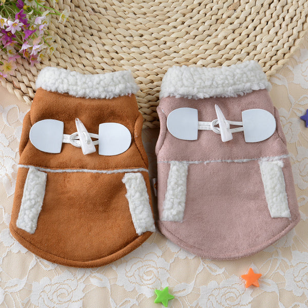 pet dog clothes winter chihuahua puppy dog coat Motorcycle Vest Costume Pet Products roupa cachorro -  - Molly Brands - Molly Brands