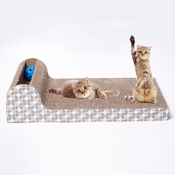 Cat Kitten Corrugated cat Scratch Board Pad Scratcher Bed Mat Claws Care Interactive Toy For Pet Training Cat toys - Toys - Molly Brands - Molly Brands