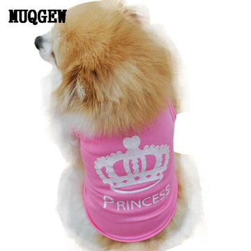 New Fashion Puppy  pet dog clothes For  Summer cotton Shirt  small dog clothes Cat Pet T Shirt