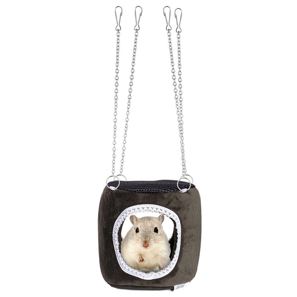 UEETEK Small Pet Hammock Hanging Snuggle Cave Hut for Hamster Squirrel Chinchilla Guinea Pig -  - Molly Brands - Molly Brands