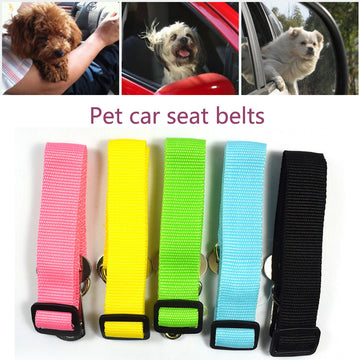 New Adjustable Dog Pet Car Safety Seat Belt Restraint Lead Travel Leash