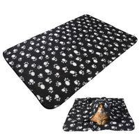 UEETEK Pet Dog Cat Paw Print Fleece Throw Blanket -  - Molly Brands - Molly Brands