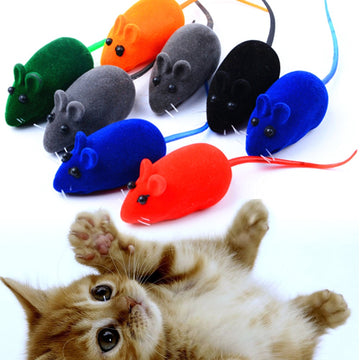 10pcs/set Mouse Cat Toy Squeak Noise Sound Rat Little Mouse Toy Dog Pet Playing Cat products  Pets Cat Toy Mouse For kids toys