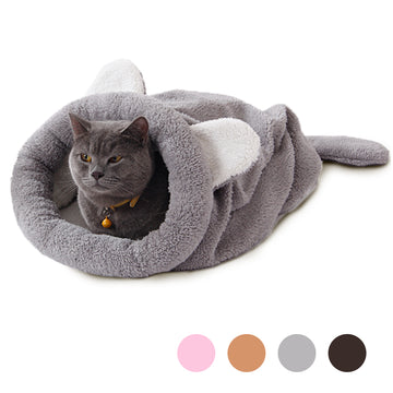 Cat Bed Soft Warm Cat House Pet Mats Puppy Cushion Rabbit Bed Funny Pet Products 4 Color