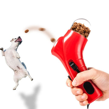 Pet Treat Launcher Training dog food catapult auto pets food thrower puppy Snacks Feeder