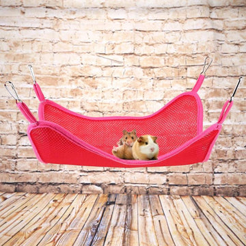 Summer Pet Hammock for Hamster Parrot Breathable Swing Mat Cage Accessories Pet Cat Ferrets Bird Hanging Bed House